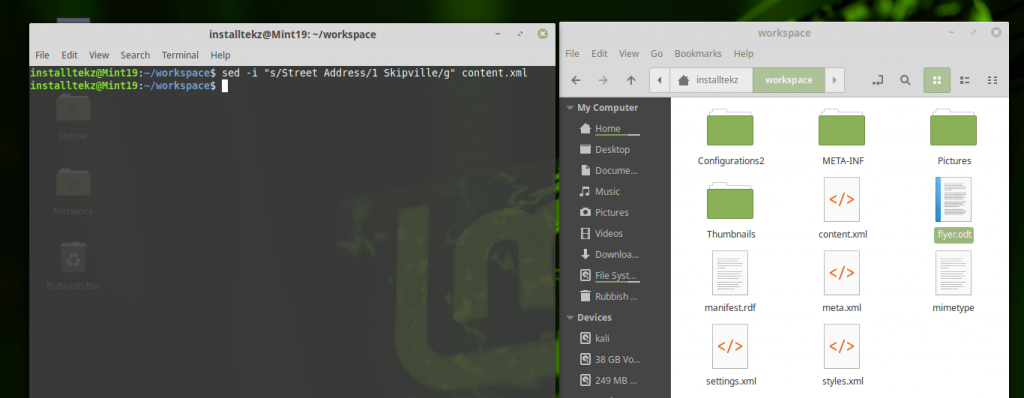 create office document from linux terminal