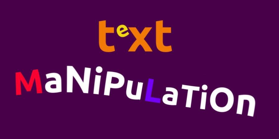 text manipulation graphic