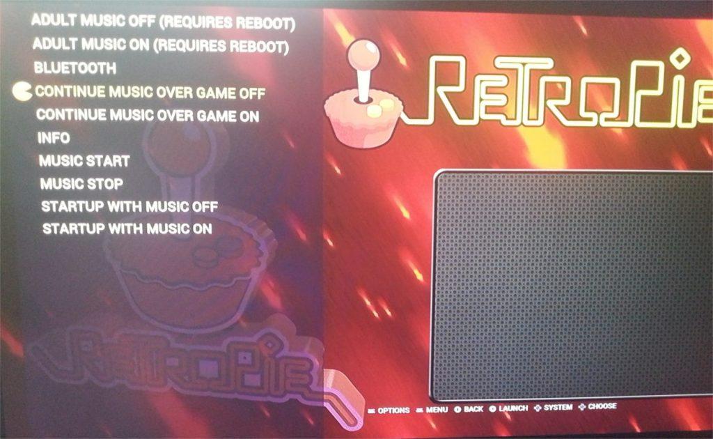 RetroPie with music options