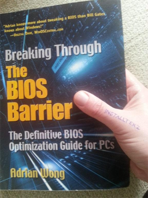 holding BIOS book
