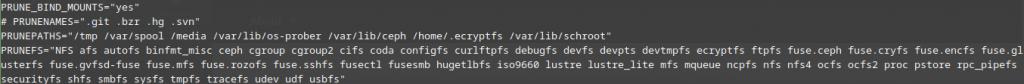 updatedb.conf file