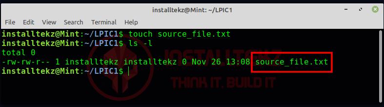 create regular file