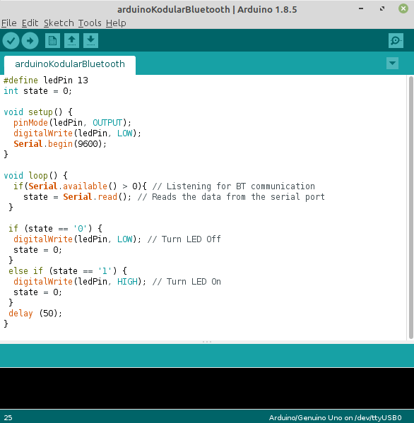 Arduino IDE With Sketch