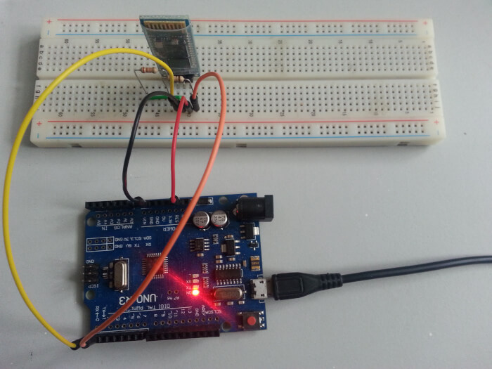 HC-06 to Arduino Uno With Breadboard