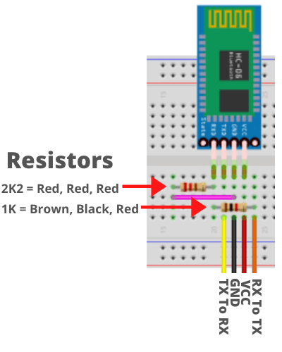 HC-06 to Arduino Uno With Breadboard Layout