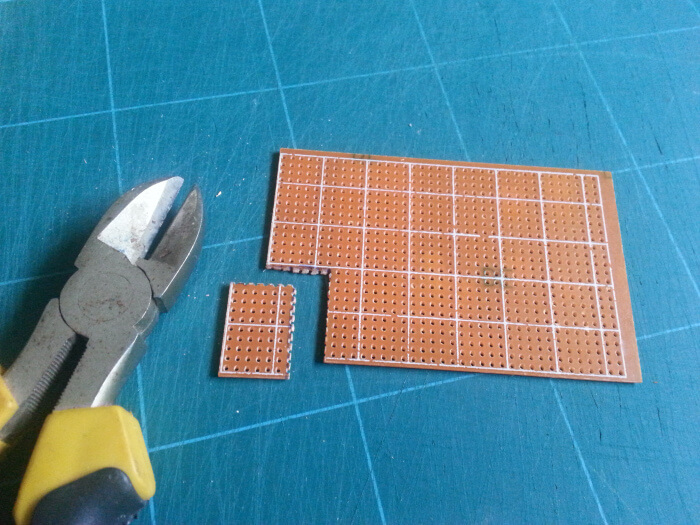 Cutting Stripboard