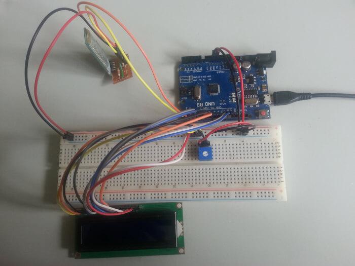 Arduino Uno 16x2 LCD Bluetooth HC-06