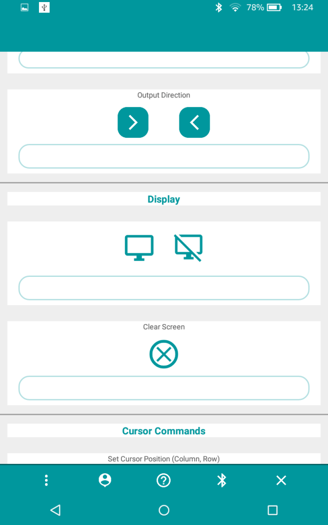 Arduino LCD Playground App Android
